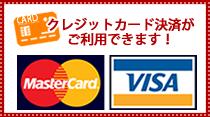 マスターカードとビザのクレジットカード決済がご利用できます