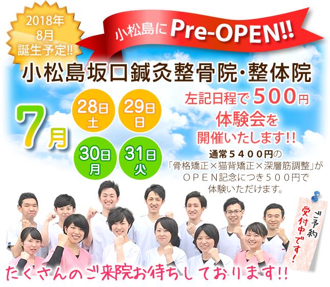 小松島坂口鍼灸整骨院・整体院がプレオープン