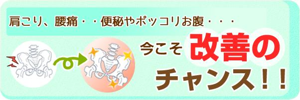 阿南・小松島坂口鍼灸整骨院・整体院の骨盤矯正の楽トレで改善のチャンス